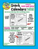 NEW UPDATED! Editable Snack Calendars 2018-2019
