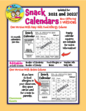 NEW UPDATED! Editable Snack Calendars for 2020 and 2021