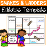 FREE Editable Snakes and Ladders Game Template