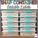 Editable Snap Container Labels
