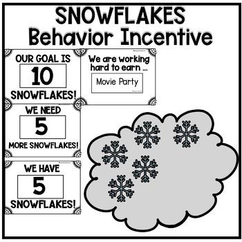 Editable Snowflakes Behavior Math Reward System