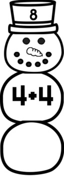 Editable Snowman Addition and Subtraction Activity