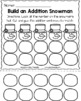 Snowman Editable Addition and Subtraction Activity