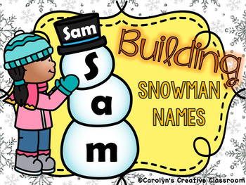 Editable Snowman Building Names with faces!