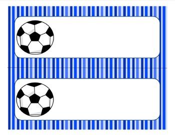 Editable Soccer Name Tags