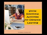 Editable Social Emotional Activities for Distance Learning