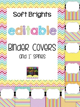 Editable Soft Brights Binder Covers