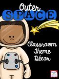 Editable Space Classroom Theme Decor