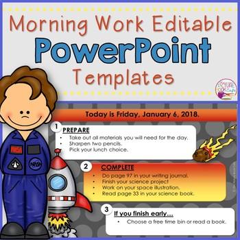 Editable Space Themed PowerPoint Templates