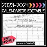 2019-2020 Editable Spanish Calendar