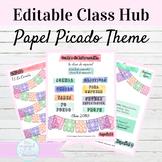 Editable Spanish Class Hub Papel Picado Theme