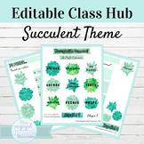 Editable Spanish Class Hub Succulent Theme