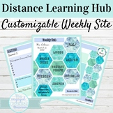 Editable Spanish Class Hub for Distance Learning