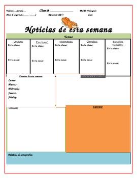 Editable Spanish Classroom Newsletter