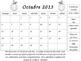 Editable Spanish Clip Chart Behavior Calendar (2013-2014 School Year)