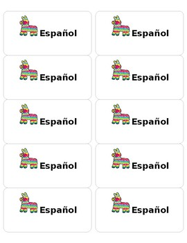 Editable Spanish Labels