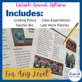 Editable Spanish Syllabus