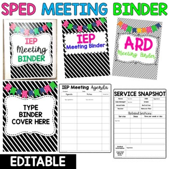 Editable Special Education Meeting Binder