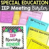 Editable Special Education Meeting Binder (IEP Meeting Binder)