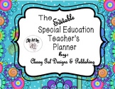 Editable Special Education Teacher's Planner {Funky Flowers Themed Plan book)