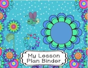 Editable Special Education Teacher's Planner {Funky Flowers Themed Plan book)