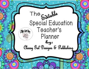 Editable Special Education Teacher's Planner {Funky Flower