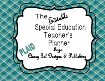 Editable Special Education Teacher's Planner {Plaid}