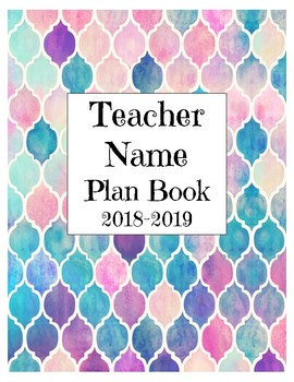 Editable Specialist Teacher Plan Book