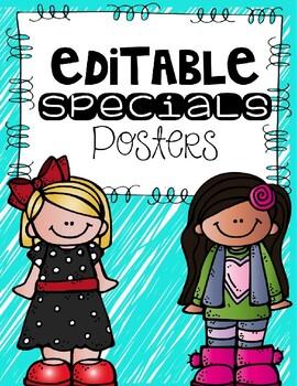 Editable Specials Posters
