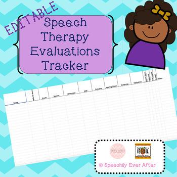 Editable Speech Evaluation Tracker
