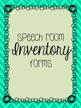 Editable Speech Room Inventory Forms