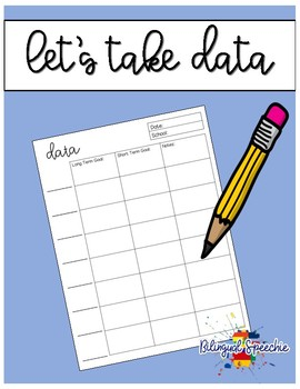 Editable Speech Therapy Data Sheets