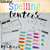 Editable Spelling Activities