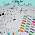 Editable Spelling Activities