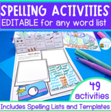 Editable Spelling Activities | Distance Learning