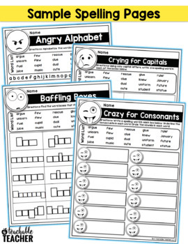 editable spelling activities emoji activities for any list of words. Black Bedroom Furniture Sets. Home Design Ideas