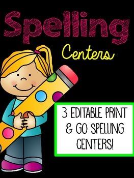 Editable Spelling Activities Sample