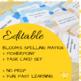 Spelling Activity Bundle ( Editable Task Cards, Matrix, and Bloom's Activities )