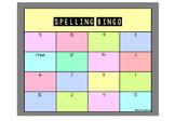 Editable Spelling Bingo