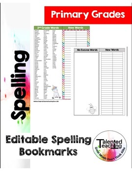 Editable Spelling Bookmarks