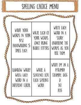 Editable Spelling Choice Menu