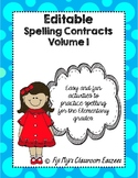 Editable Spelling Contracts Volume 1