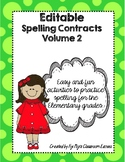 Editable Spelling Contracts Volume 2