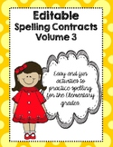 Editable Spelling Contracts Volume 3