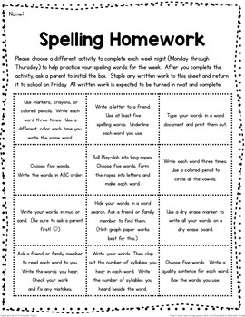 spelling homework editable by second grade smiles tpt. Black Bedroom Furniture Sets. Home Design Ideas