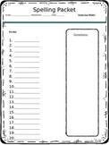Editable Spelling Homework Packet