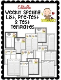 Editable Spelling List and Test Templates