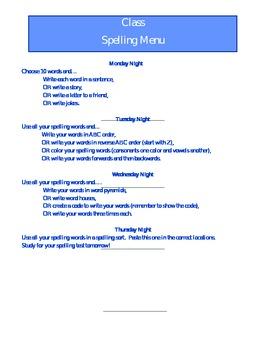 Editable Spelling Menu
