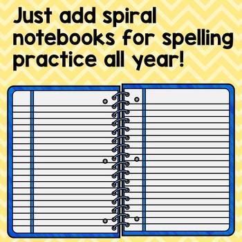 Editable Spelling Notebook
