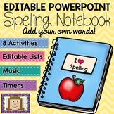 Editable Spelling Notebook BUNDLE